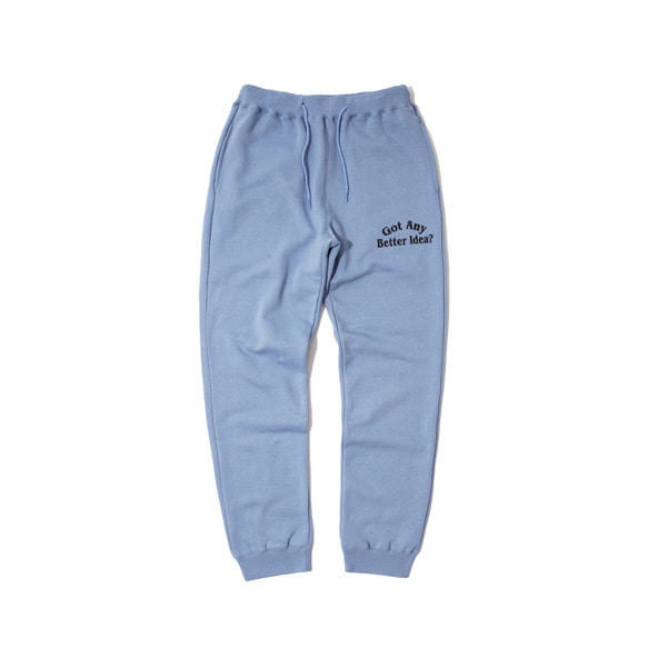 IDEA SWEAT PANTS (S.BLUE)