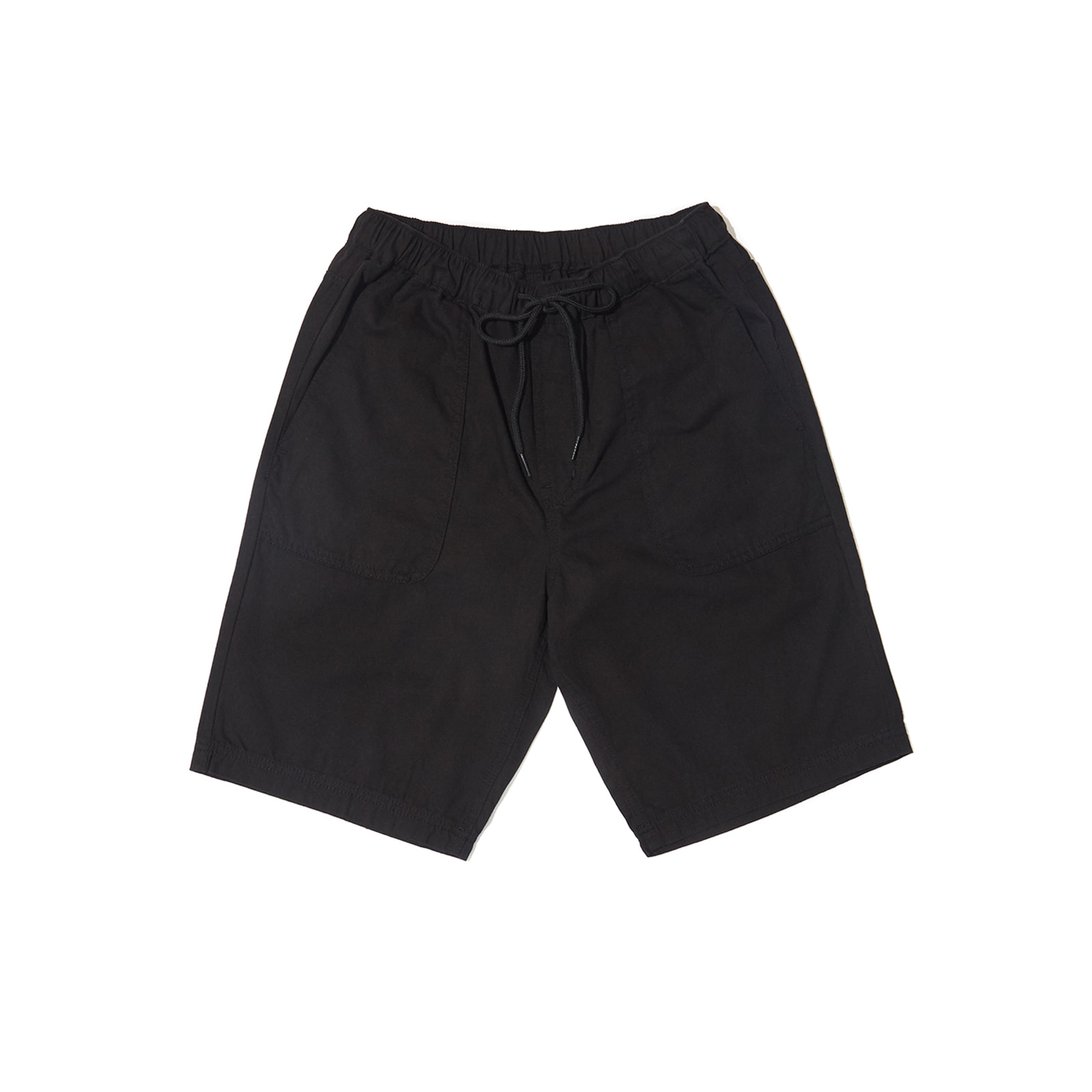 BLACK DENIM SHORTS (BLACK)