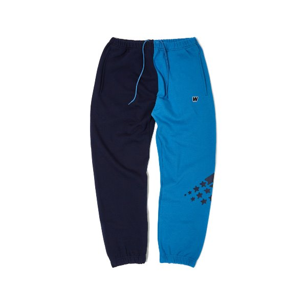 2-TONE SWEAT PANTS (BLUE)