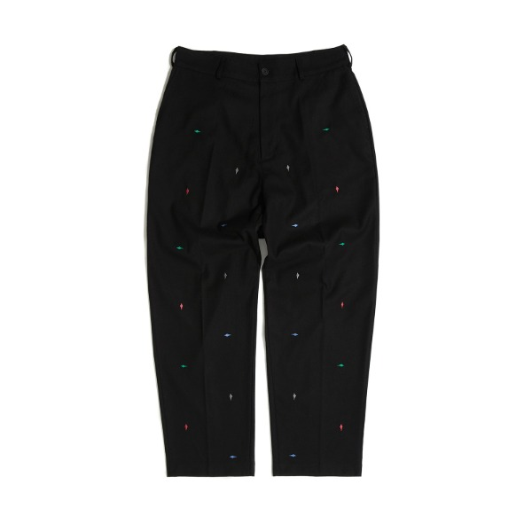 DIAMOND EMBROIDERY  PANTS (BLACK)